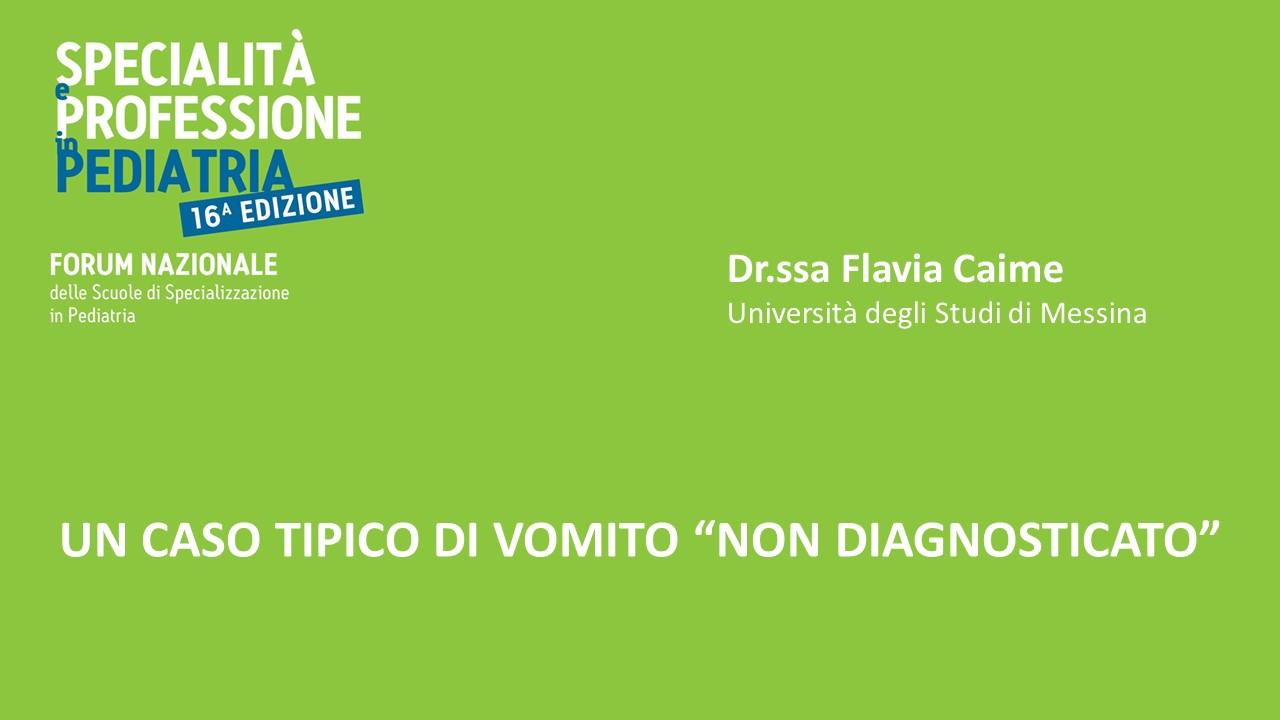 """UN CASO TIPICO DI VOMITO """"NON DIAGNOSTICATO"""""""