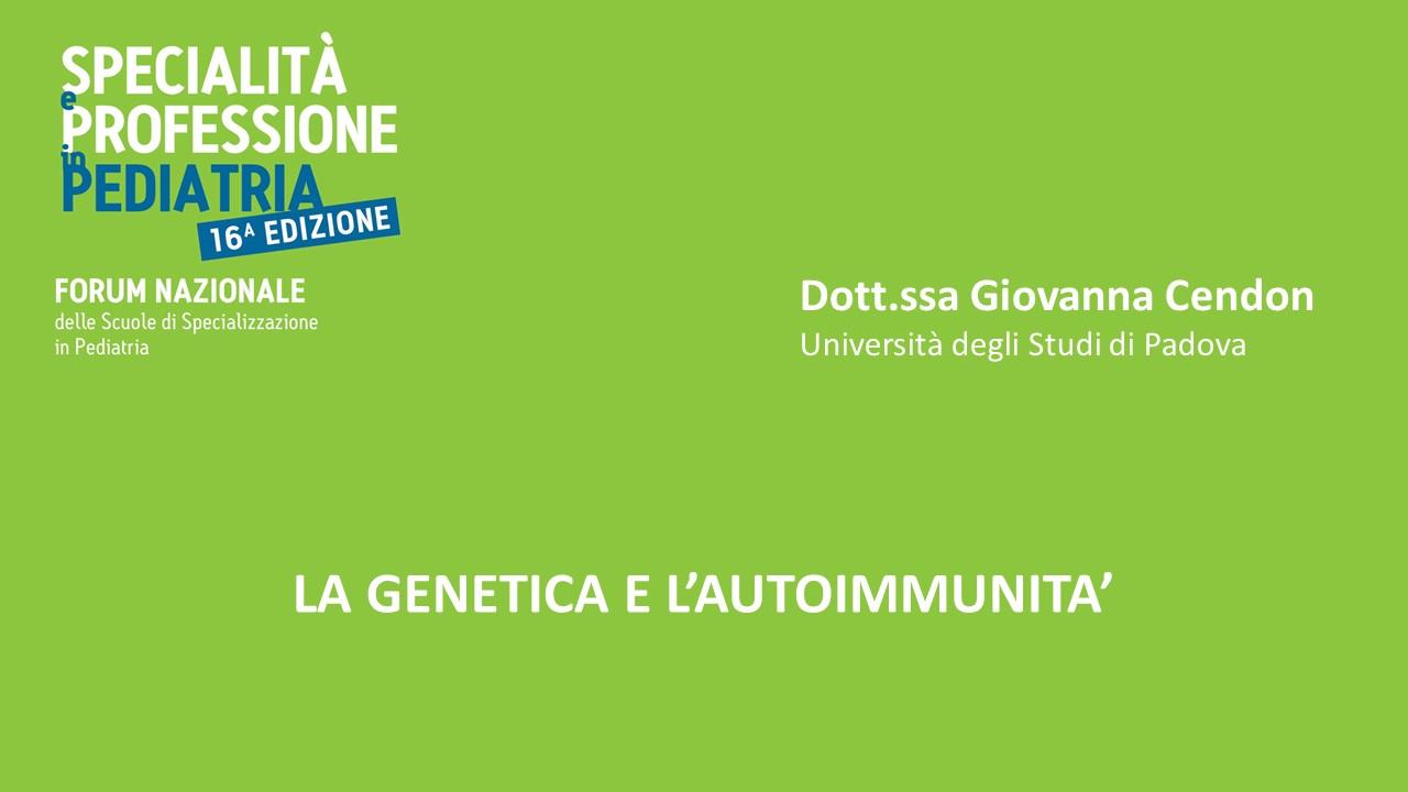 LA GENETICA E L'AUTOIMMUNITA'