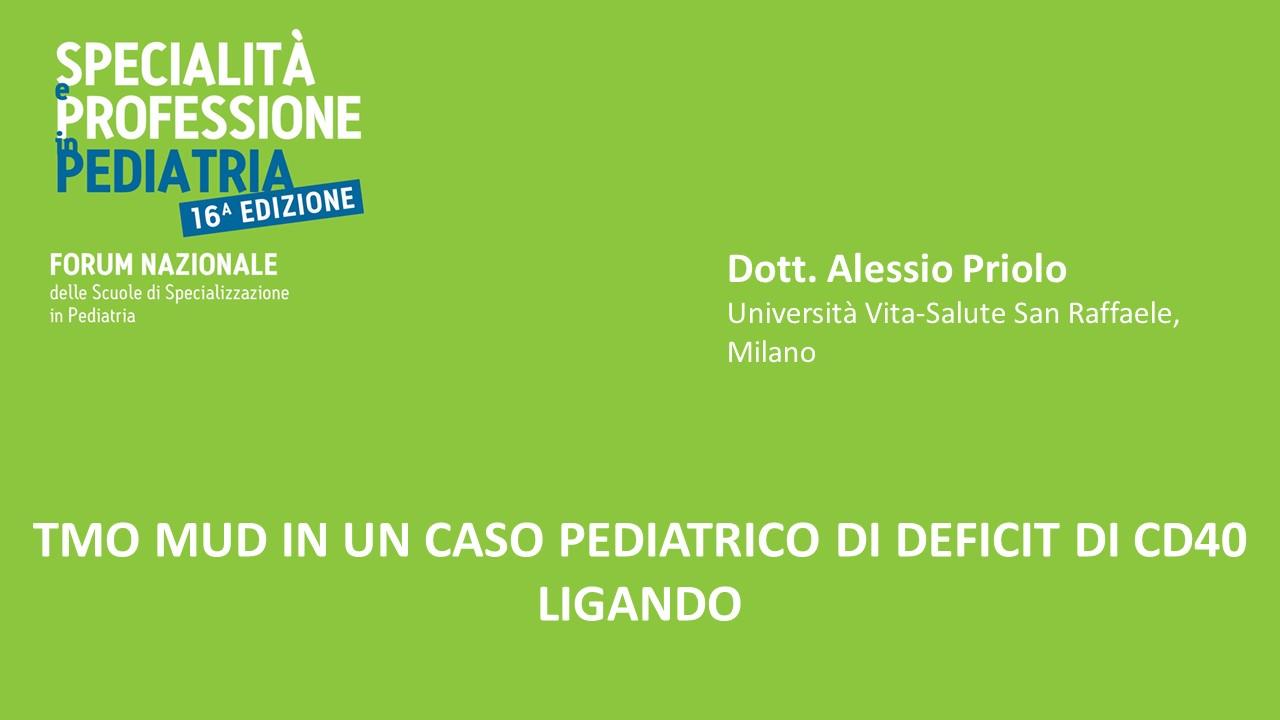 TMO MUD IN UN CASO PEDIATRICO DI DEFICIT DI CD40 LIGANDO